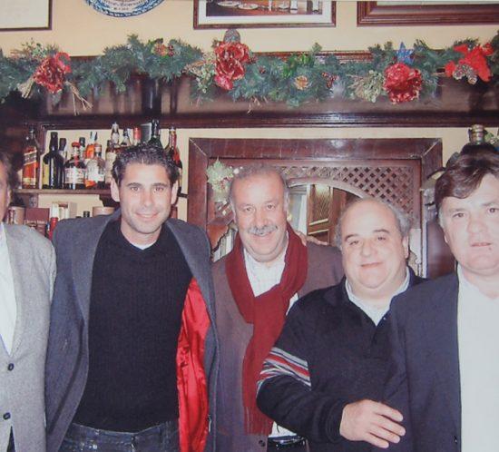 Toni Grande, Hierro, Del Bosque, Luis y Camacho