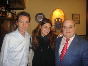 Amaia Salamanca y Matías Prats