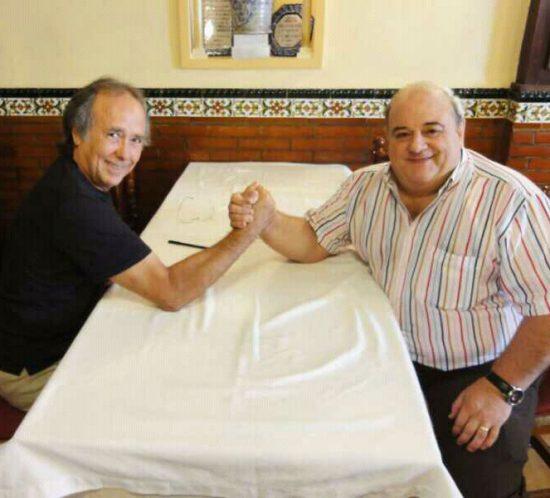 Joan Manuel Serrat y Luis Oruezábal