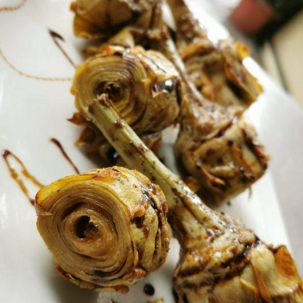 Alcachofas Fritas con Miel de Caña ( 6 unidades )