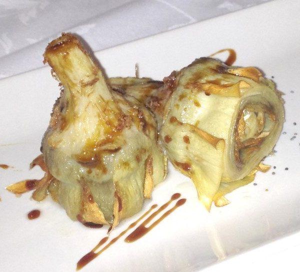 Alcachofas Fritas con Miel de Caña